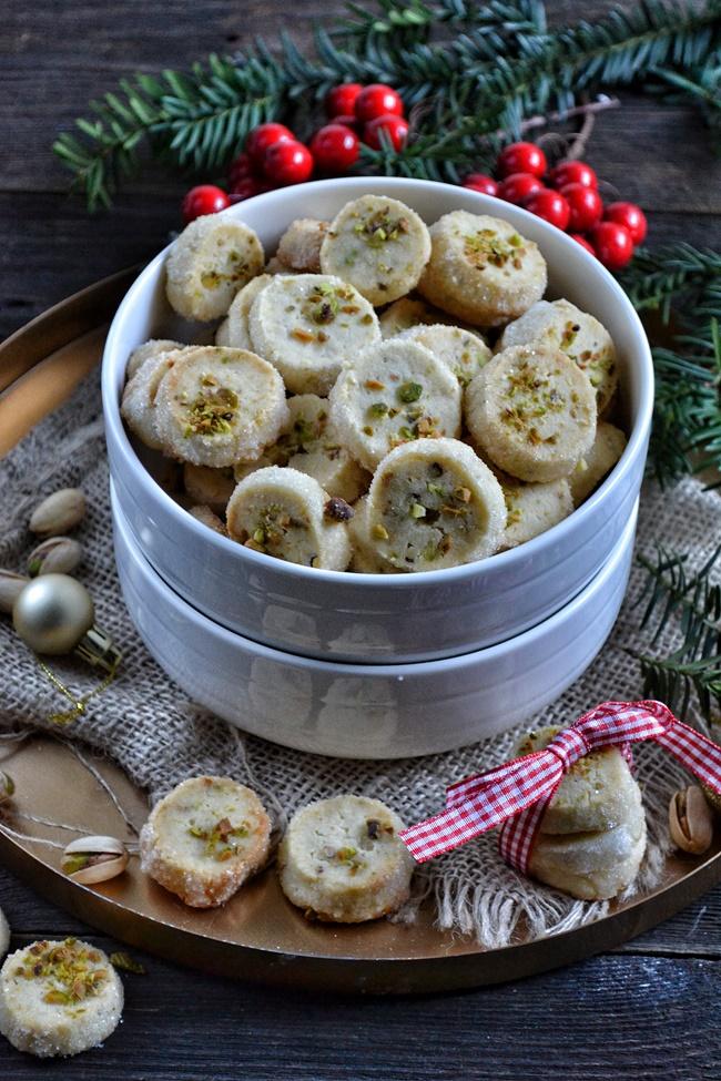 Ciasteczka marcepanowe z pistacjami