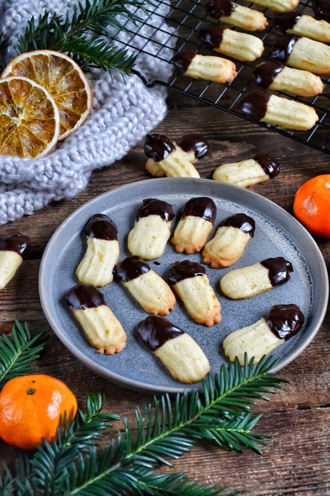 ciasteczka pomarańczowe w czekoladzie, maślane ciasteczka z pomarańczą