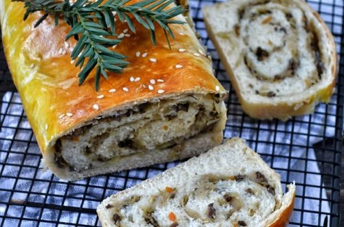 Kulebiak z kapustą i grzybami